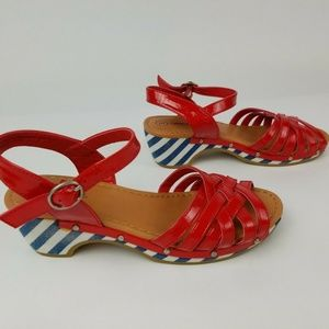 Cherokee Red White Blue Sandals kids size 3